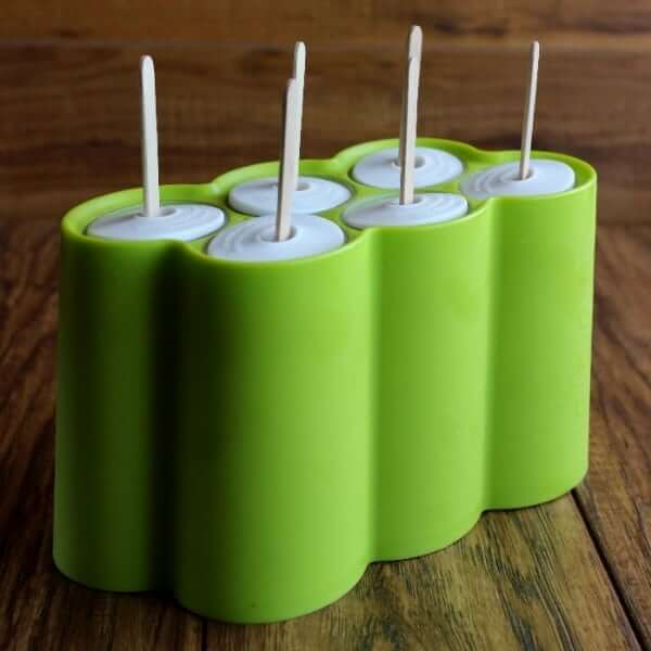 Photo of green popsicle molds made by Zoku.