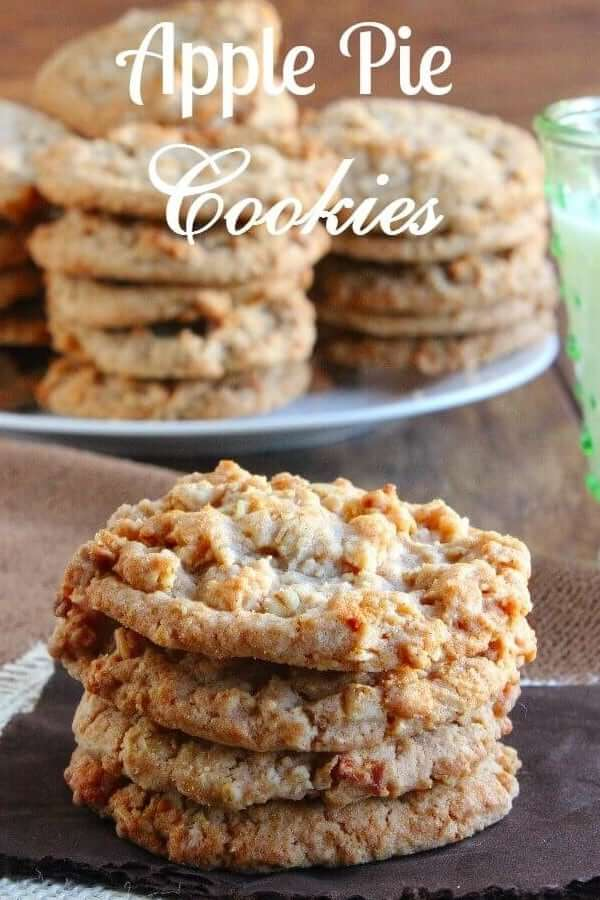 Front photo of a stack of 4 cookies showing lots of texture.