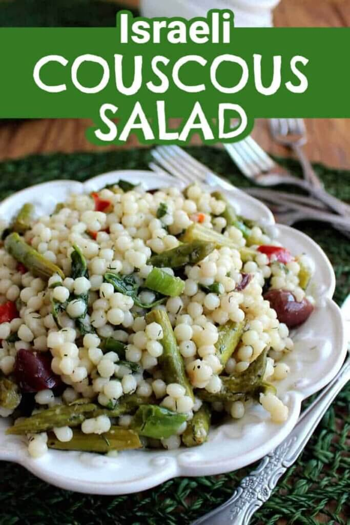 Pearl Couscous Salad Recipe With Asparagus Vegan In The Freezer