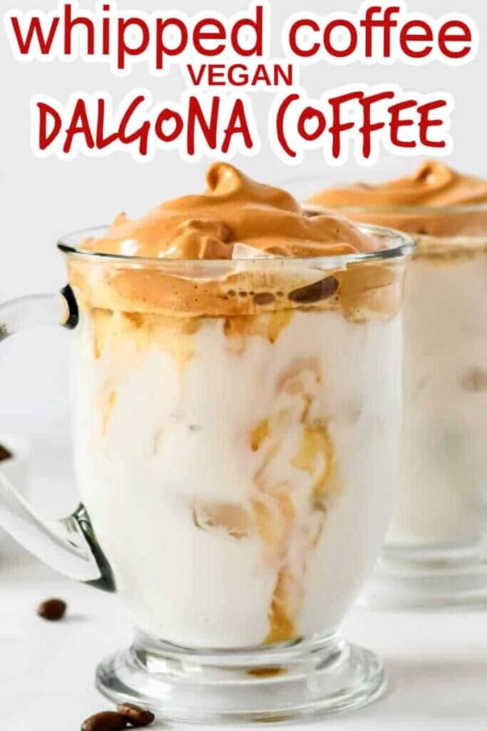 Whipped Coffee Recipe Vegan Dalgona Coffee Vegan In The Freezer
