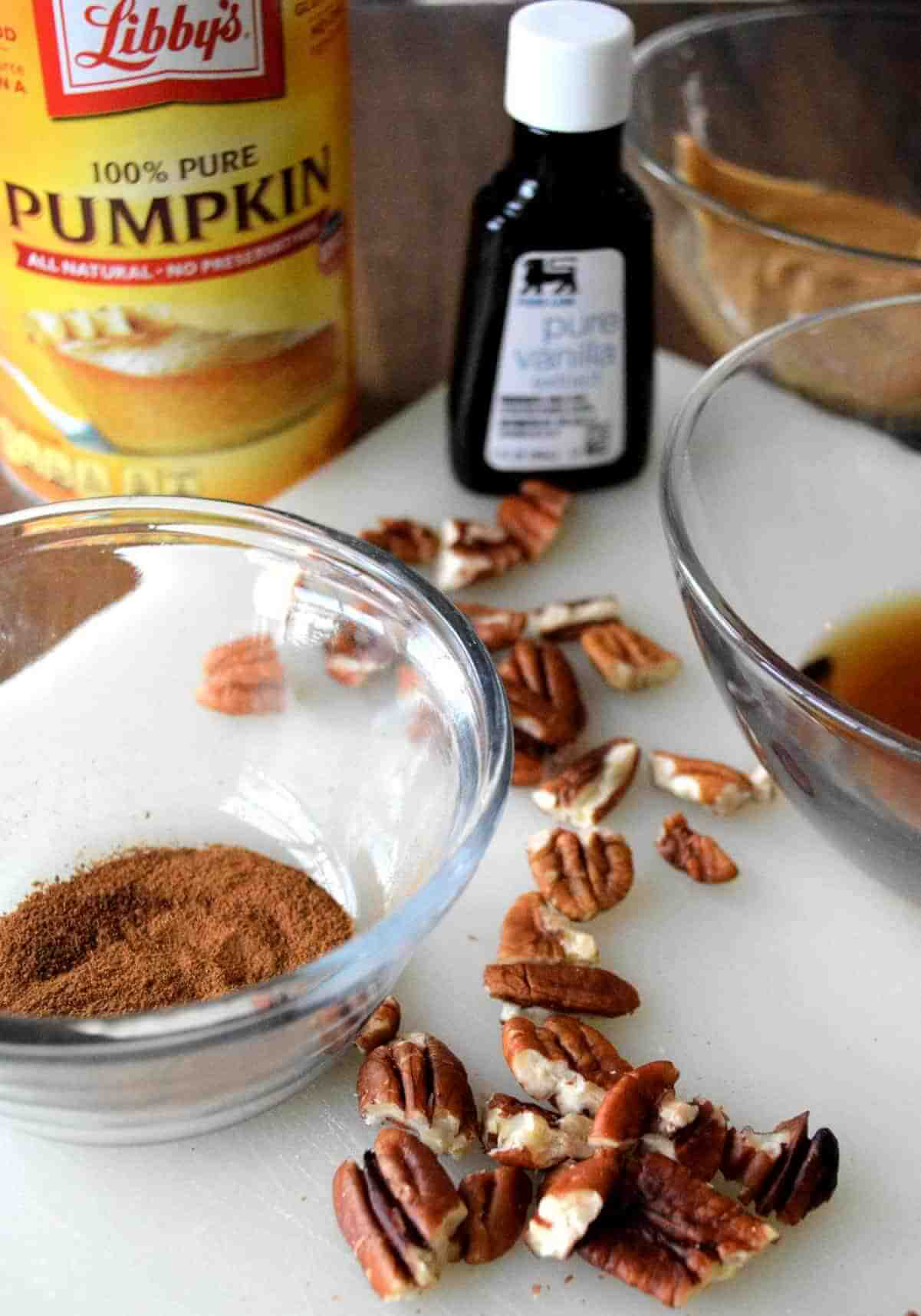 Ingredients for a holiday candy treat.