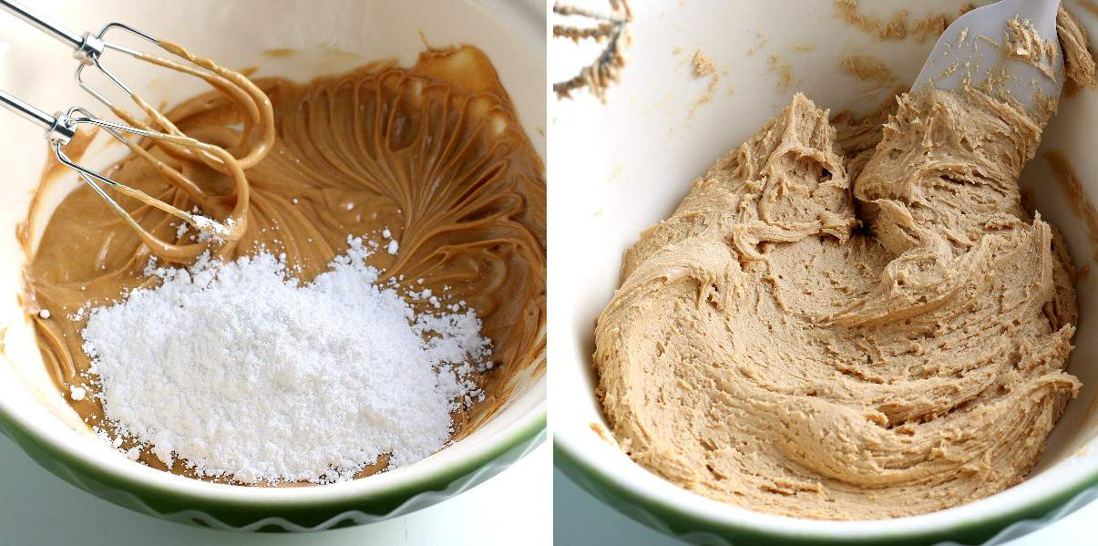 Two process photos with added powdered sugar and then mixed into the batter.