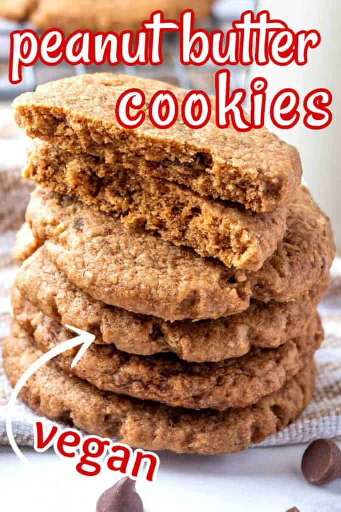 Stack of five cookies with the top one broken open.