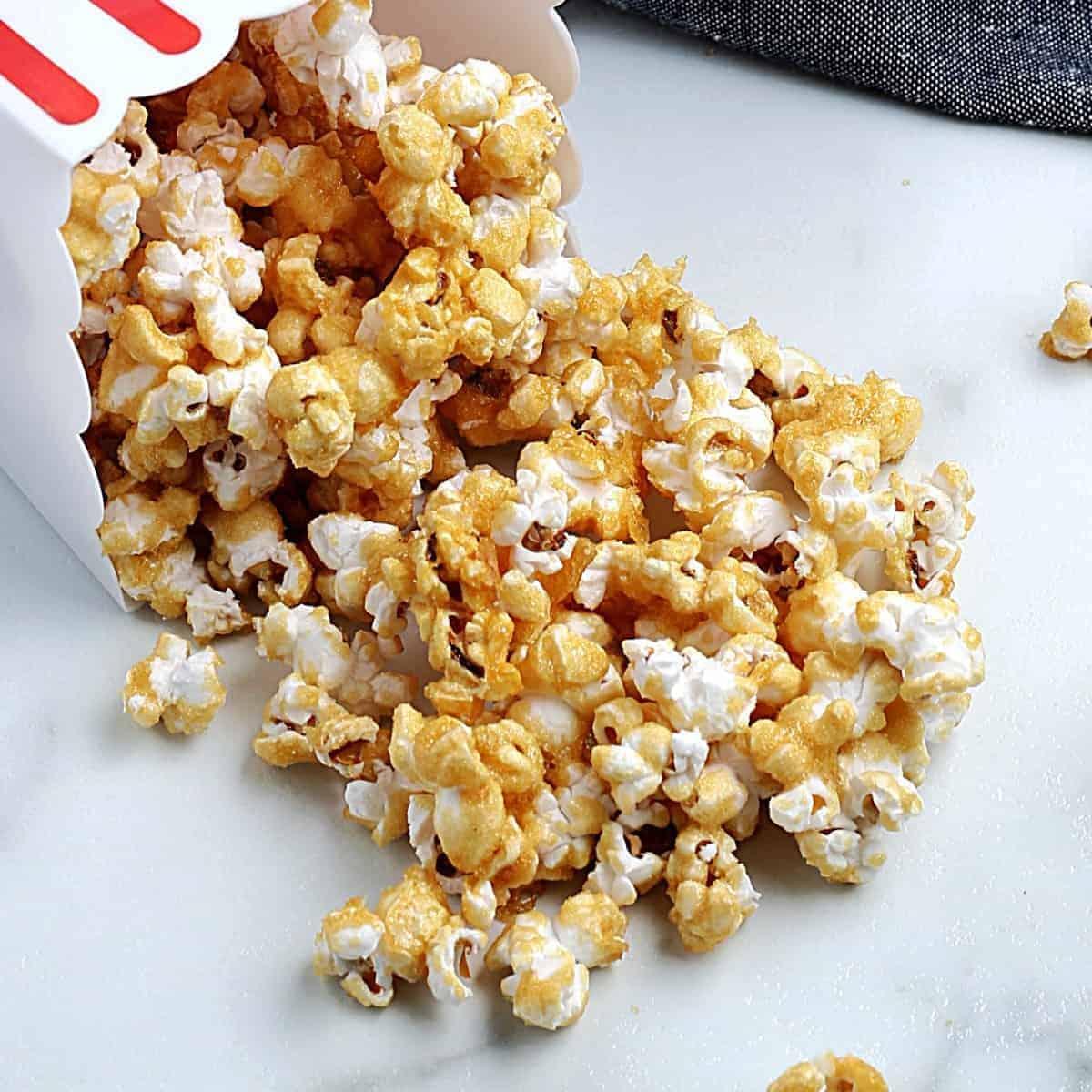 Vegan Popcorn With Caramel Vegan In The Freezer