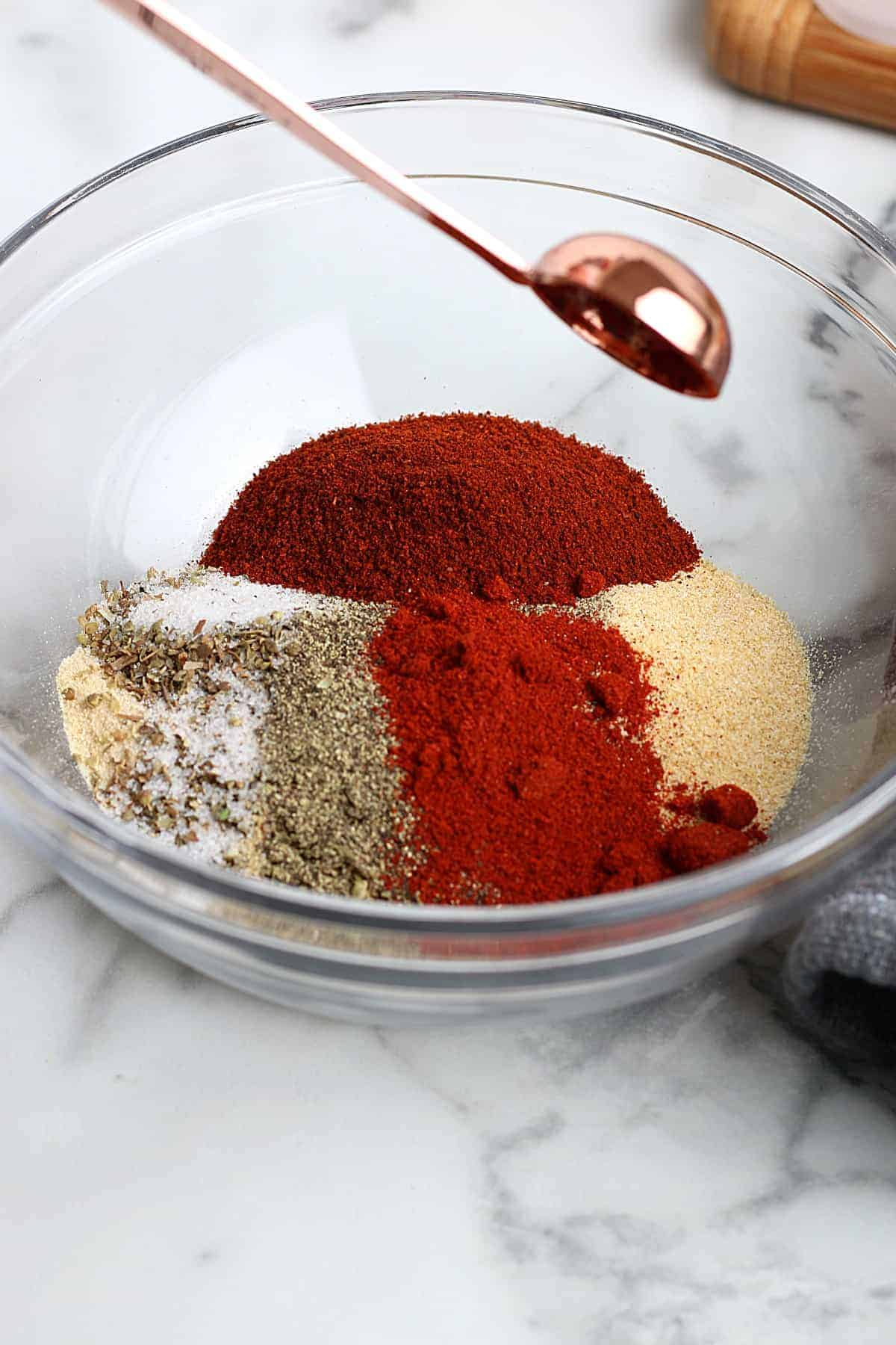 Lots of chili powder added to the beginning spice mix.